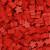 Carcassonne: Sacchetto con 100 Meeples di Colore Rosso