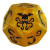 Cthulhu Dice Game - Oro Perlato/Nero