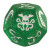 Cthulhu Dice Game - Verde Glitterato/Bianco
