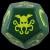Cthulhu Dice Gigante - Verde Scuro/Giallo