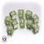 Dadi Set 10D6 Battle - American Verde, Bianco