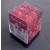 Scatolina con 36 Dadi Marmo Rosso (Marble: Rot)