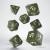 Scle1c - Set 7 Dadi Classici Olive White