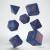 Set 7 Dadi - Wizard Dark Blue Orange