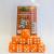 Set 15 Dadi D6 16mm - Arancio