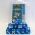 Set 15 Dadi D6 16mm - Azzurro Marmorizzato