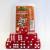 Set 15 Dadi D6 16mm - Rosso Glitter
