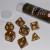 Set 7 Dadi 16mm - Dwarven Gold