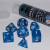 Set 7 Dadi 16mm - Ocean Blue