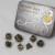Set 7 Dadi In Metallo - Antique Gold