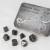 Set 7 Dadi In Metallo - Antique Silver
